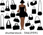 Illustration With Handbag...