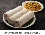 delicious white rice puttu from ... | Shutterstock . vector #546199363