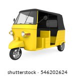 yellow auto rickshaw. 3d... | Shutterstock . vector #546202624