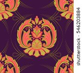 damask seamless pattern in the... | Shutterstock .eps vector #546203884