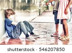 bullying concept. student sad... | Shutterstock . vector #546207850