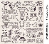 virtual and augmented reality... | Shutterstock .eps vector #546220243