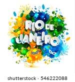 illustration of rio de janeiro... | Shutterstock . vector #546222088