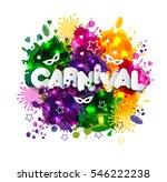 illustration of carnival mardi...   Shutterstock . vector #546222238
