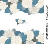 flowers pattern background. can ... | Shutterstock .eps vector #546223624
