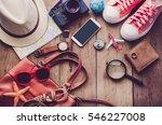 travel accessories costumes....   Shutterstock . vector #546227008