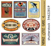 vintage style label  on the... | Shutterstock .eps vector #54622819