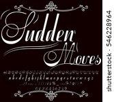 font script typeface set named... | Shutterstock .eps vector #546228964