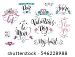 happy valentines day. set of... | Shutterstock .eps vector #546228988