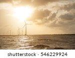 Wind Turbines At Sunset....