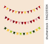 set of colored flags. holiday...   Shutterstock .eps vector #546235504