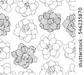 seamless pattern with magical... | Shutterstock . vector #546235870