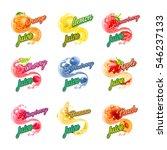 fruit juice | Shutterstock .eps vector #546237133
