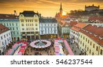 view on christmas market on the ... | Shutterstock . vector #546237544