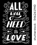 hand drawn lettering all you...   Shutterstock .eps vector #546261940