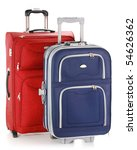 Two travel suitcases - stock photo