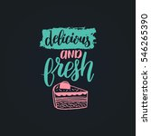 vector cupcake with love... | Shutterstock .eps vector #546265390