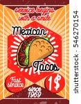 color vintage mexican food... | Shutterstock . vector #546270154