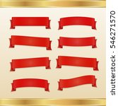 set of red ribbons and banners  | Shutterstock .eps vector #546271570