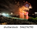 fireworks at new years eve... | Shutterstock . vector #546276790