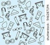 sex shop pattern.  | Shutterstock . vector #546287194