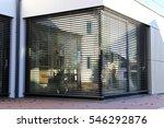 window with modern shutter ... | Shutterstock . vector #546292876