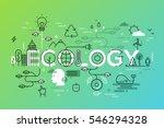 thin line flat design banner... | Shutterstock .eps vector #546294328