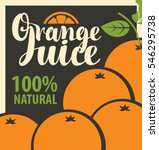 vector banner with oranges and... | Shutterstock .eps vector #546295738