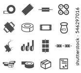 tape icon set vector | Shutterstock .eps vector #546297016