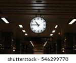 clock in train station | Shutterstock . vector #546299770