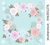 Floral Round Frames From Cute...