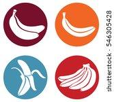 vector set of banana icons. | Shutterstock .eps vector #546305428