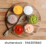 various sauces on wood | Shutterstock . vector #546305860