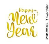 happy new year brush hand... | Shutterstock .eps vector #546307000