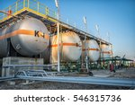 gas tank containers in natural... | Shutterstock . vector #546315736