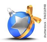 3d illustration of blue... | Shutterstock . vector #546316948