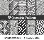 set of 10 geometric patterns.... | Shutterstock .eps vector #546320188