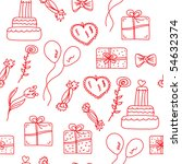 holidays red  seamless pattern... | Shutterstock .eps vector #54632374