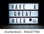 Small photo of 'Have a great week' text in lightbox