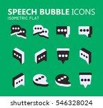 simple modern set of speech... | Shutterstock .eps vector #546328024