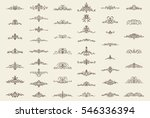 vintage decor elements and... | Shutterstock .eps vector #546336394