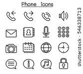 phone icon set in thin line... | Shutterstock .eps vector #546338713