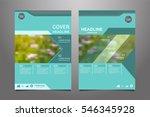 green annual report leaflet... | Shutterstock .eps vector #546345928