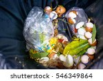 waste  food in garbage not... | Shutterstock . vector #546349864