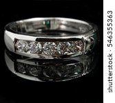 close up silver diamond ring... | Shutterstock . vector #546355363