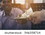 businessman hand giving money   ... | Shutterstock . vector #546358714
