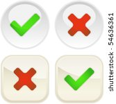 approved and rejected buttons.... | Shutterstock .eps vector #54636361