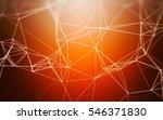 3d abstract polygonal orange... | Shutterstock . vector #546371830