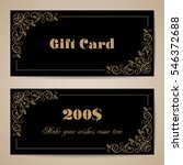Gift Card Template With...
