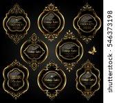 dark gold framed labels | Shutterstock .eps vector #546373198